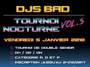 Succès pour le 5ème tournoi nocturne du DJS Bad