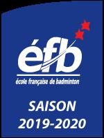 Logo Ecole Française de badminton - saison 2019/2020