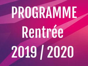 Programme de rentrée DJS Bad, saison 2019 / 2020