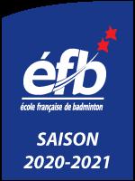 Logo Ecole Française de Badminton - saison 2020-2021
