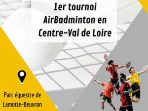 Un tournoi de AirBadminton organisé par la Ligue Centre-Val de Loire