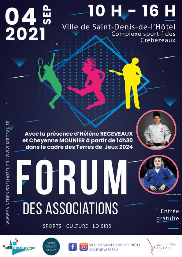 Affiche Forum des Associations Jargeau & Saint Denis de l'Hôtel 2021-2022